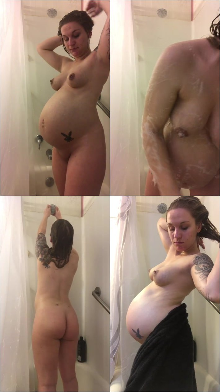 Pregnant-Watch me shower