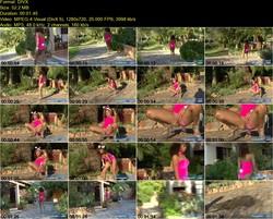 Pink Bunny Taking Leak_1