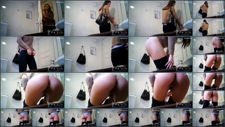A slender girl in white panties peeed standing up.avi,