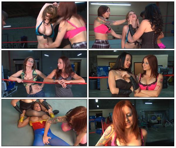 Female Wrestling, Domination, Strap-on