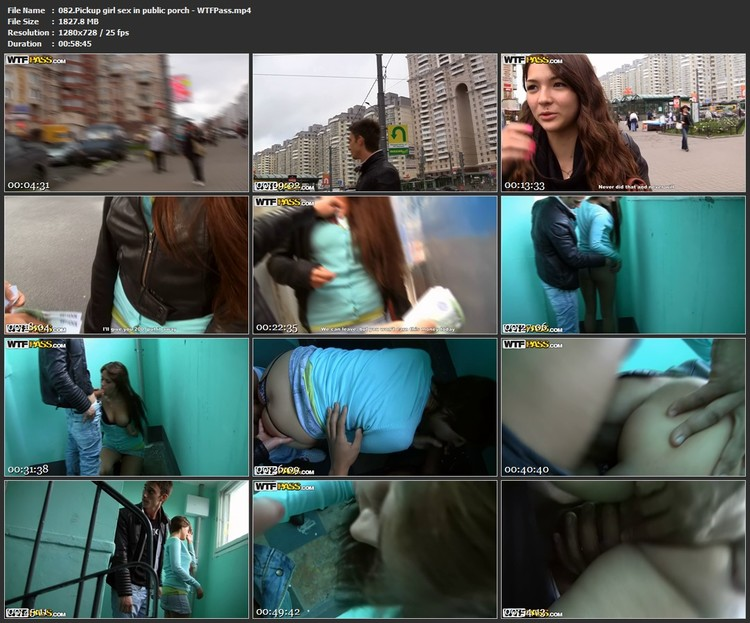 082.Pickup girl sex in public porch - WTFPass,