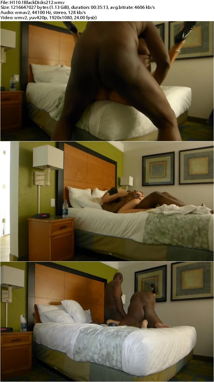 Sexy milf with two blacks anal