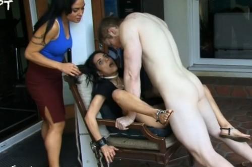 Strangled by perverted couple