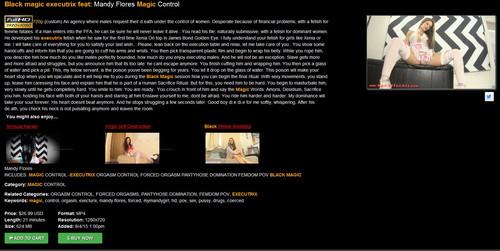 Mandy Flores: Black magic executrix feat: Mandy Flores Magic Control