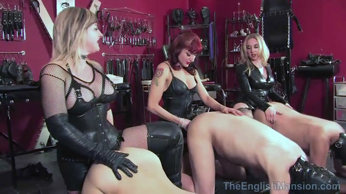 The English Mansion – MISTRESS SIDONIA, LADY NINA and MISTRESS V – MP4/HD – Squeal piggy squeal