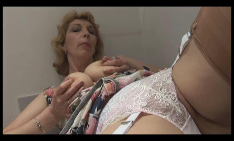 Mature busty lactating woman