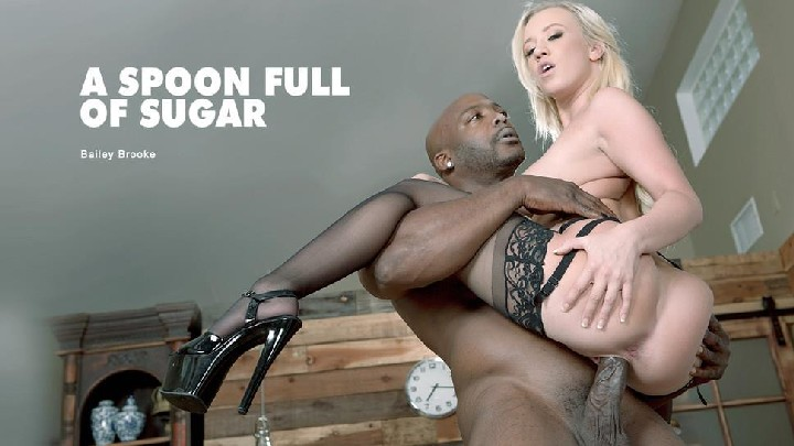 [BlackIsBetter / Babes] Bailey Brooke – A Spoon Full of Sugar Trailer (04.07.2017) [Blonde, Black, Big Dick, Deep Throat, Gagging]