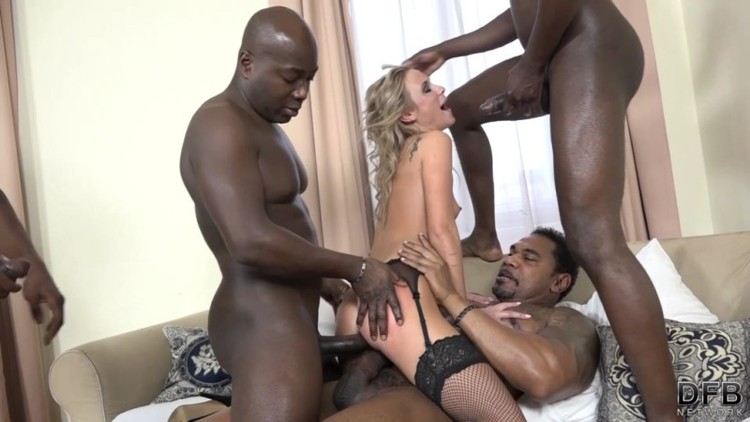 DFBnetwork - Cristal Caitlin - A Blondes Interracial Gangbang Fantasy 2017 - 1080p Free Download From pornparadise.org