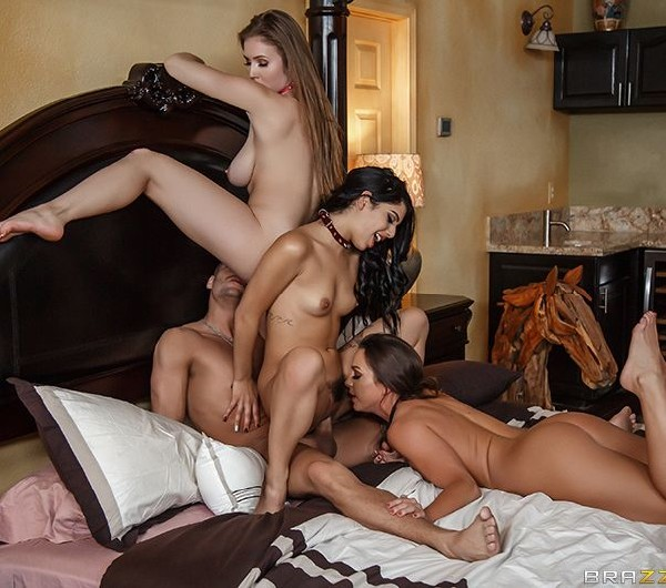 Abigail Mac, Gina Valentina, Lena Paul - Xanders World Tour - Ep.4 - SD (28.02.2018/ZZSeries/BraZZers/584 MB)