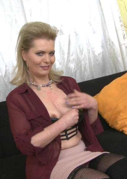 Mirka J. (47) in naughty housewife Mirka playing with herself