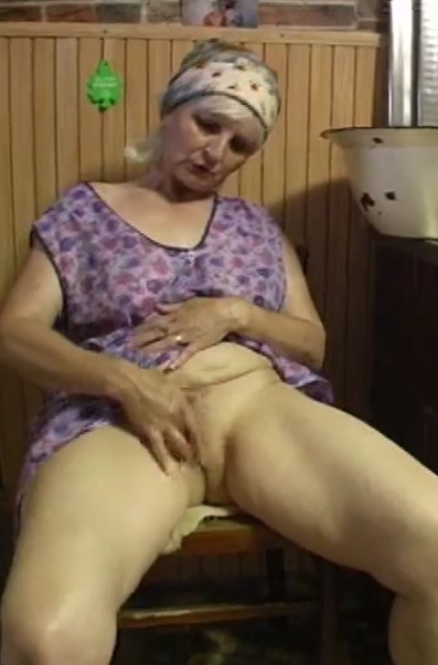 Horny mature home alone
