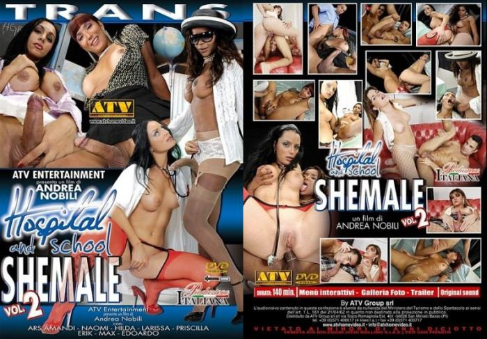 PinkoTgirls - Naomi, Ars Amandi, Hilda Brasil, Larissa, Priscilla - Hospital and School Shemale 2 [SD 480p]