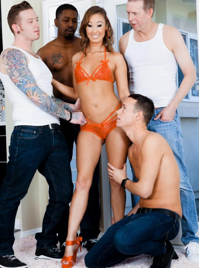 EvilAngel - Christy Love [Cute Asian Christies 1st DP Gangbang!] (HD 720p)