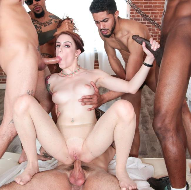 Anna De Ville - - DP Gangbang, Bukkake For Cheating Anna [EvilAngel] HD 720p