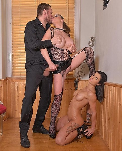 HouseOfTaboo/DDFNetwork - Mira Cuckold, Cathy Heaven - Kinksters Double Humiliation [HD 720p]