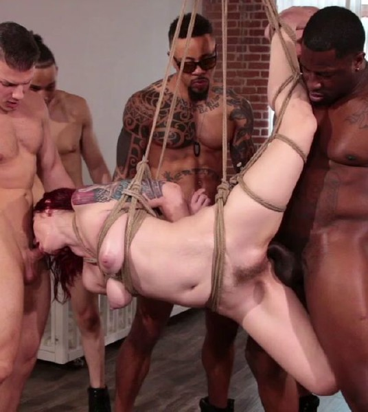 BoundGangBangs/Kink: Takes A Temp Job Getting Stuffed Airtight - (Violet Monroe) - Bondage [HD 720p]