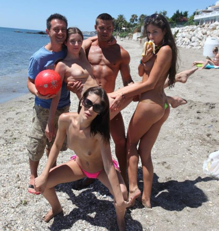 WTFPass: Agnessa, Carla, Leila - Real Sex Party On The Sunny Beach Part 3 [FullHD 1080p] (Orgy)
