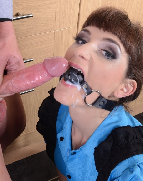 LukeHardyxxx: Adreena Winters - Ball-Gagged Cutie Adreena Gets Gooey Facial [HD 720p] (308.53 Mb)