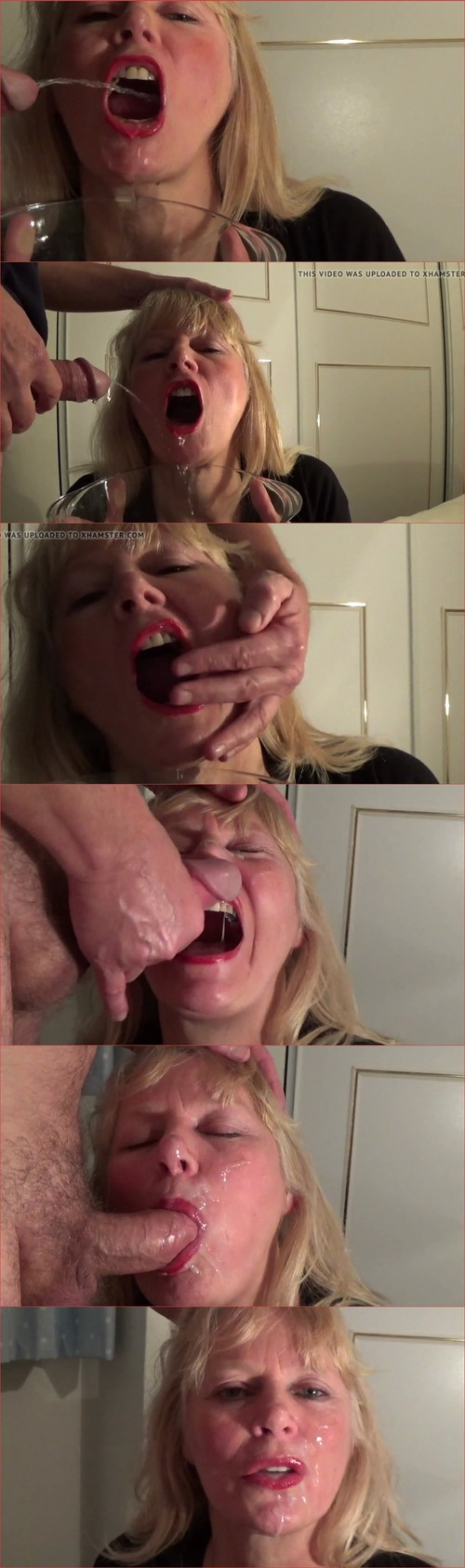 Mature Blonde Loves Piss and Cum
