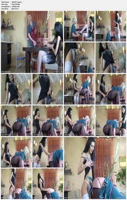 Girls fu*k boys strapon and fists [femdom]
