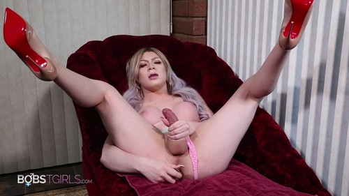 Bobs-TGirls - Hayley Hilton Glass Dildo Play Full HD