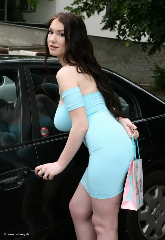 Angela white blue dress big boobs cherry pimps
