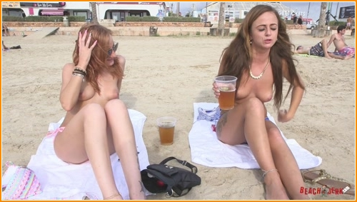 BeachJerk sarah-amelia-topless-interview full hd